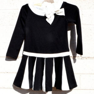 Biscotti Black White Dressy Comfy Pleated dress